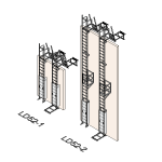 Download CAD files for Safety Access Ladder LD52