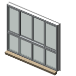 Download CAD files for Designer Series 601 MAGNUM Sliding Window (Beaded Fixed Light)