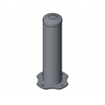 Download CAD files for Round Bollard – Moddex Tuffstop