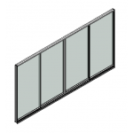 Download CAD files for Door Sliding Trend Synergy 102mm