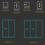 Download CAD files for Windows & Doors Trend Synergy Custom Sizes
