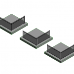 Download CAD files for Picket Top Aluminium Pool Fence