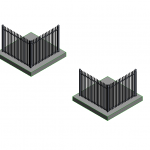Download CAD files for Hercules Steel Security Fence