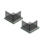 Download CAD files for Hercules Steel Fencing