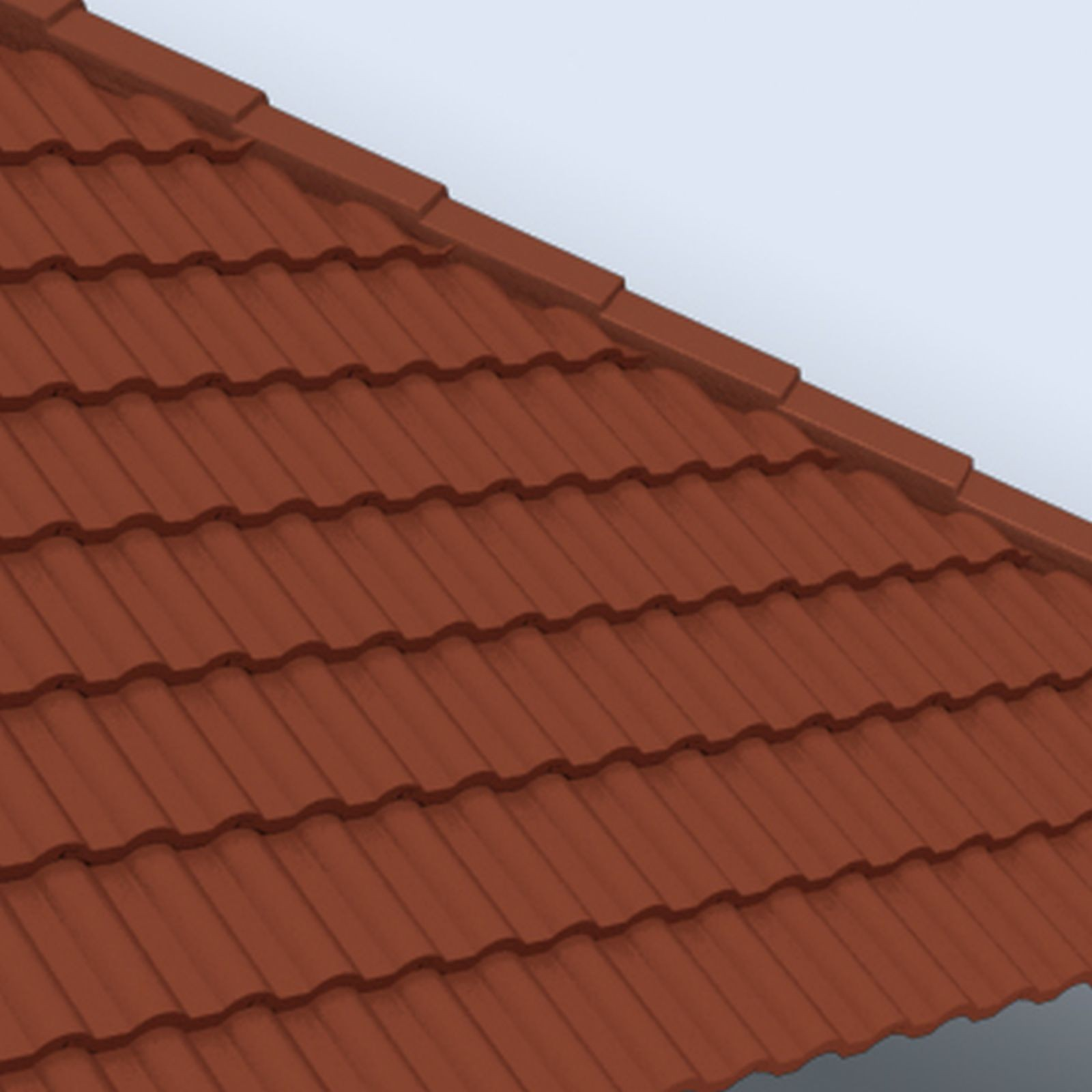 Roof tile design content for Waste material items