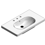 Download CAD files for Ceramic Furniture Wash Basin – BSW-FWB850