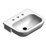 Download CAD files for Ceramic Semi Recessed Vanity Basin – BSW-SRB550