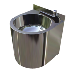 Download CAD files for Vandal Resistant Wash Basin – HBVR