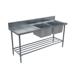 Download CAD files for BenchTech Double Sink Bench – DSB R/H Bowl