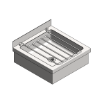 Download CAD files for Floor Mounted Cleaner's Sink – CSF