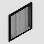 Download CAD files for Regular Hinged Window – With Safe S Cape