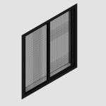Download CAD files for Regular Double Sliding Window – With Safe S Cape