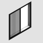 Download CAD files for Regular Single Sliding Window – With Safe S Cape