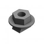 Download CAD files for M10 Wedge Nut