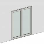 Download CAD files for Casement Door – Outward Opening