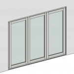 Download CAD files for Folding Door – Outward Opening