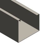 Download CAD files for Commercial Gutters
