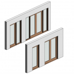 Download CAD files for Botanica Entry Frame Door – Outward Opening