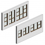 Download CAD files for Botanica Double Hung Window – Counterbalance