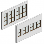 Download CAD files for Botanica Double Hung Window – Sashless