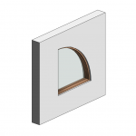 Download CAD files for Botanica Custom Fixed Window – Quarter Round