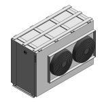 Download CAD files for Commercial Air to Water (A2W) Heat Pump-Horizontal-35kW