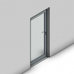 Download CAD files for Commercial Hinged Door-Inward Opening-FP (100mm)