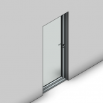 Download CAD files for Essential Hinged Door-Inward Opening (100mm)