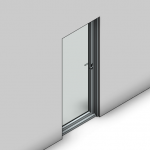 Download CAD files for Signature Hinged Door-Inward Opening (125mm)