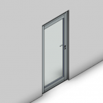 Download CAD files for Commercial Hinged Door-Outward Opening-FP (100mm)