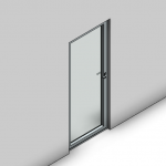 Download CAD files for Essential Hinged Door-Outward Opening (100mm)
