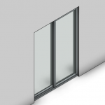 Download CAD files for Commercial Sliding Door-2 Panel (100mm)