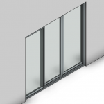 Download CAD files for Commercial Sliding Door-3 Panel (100mm)