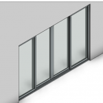 Download CAD files for Commercial Sliding Door-4 Panel (100mm)