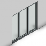 Download CAD files for Commercial Sliding Door-3 Panel (150mm)