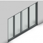 Download CAD files for Commercial Sliding Door-4 Panel (150mm)