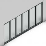 Download CAD files for Commercial Sliding Door-6 Panel (150mm)