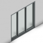 Download CAD files for Commercial Sliding Door-3 Panel (200mm)