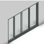 Download CAD files for Commercial Sliding Door-4 Panel (200mm)