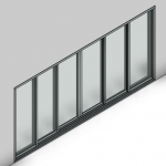 Download CAD files for Commercial Sliding Door-6 Panel (200mm)