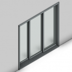 Download CAD files for Commercial Sliding Door-3 Panel (250mm)