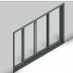 Download CAD files for Commercial Sliding Door-4 Panel (250mm)