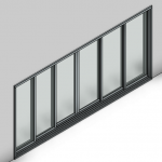 Download CAD files for Commercial Sliding Door-6 Panel (250mm)