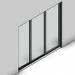 Download CAD files for Essential Sliding Door-3 Panel (140mm)