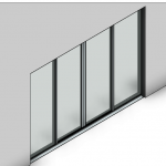 Download CAD files for Essential Sliding Door-4 Panel (140mm)