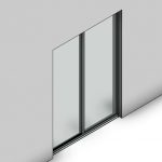 Download CAD files for Essential Sliding Door-2 Panel (80mm)