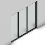 Download CAD files for Essential Sliding Door-3 Panel (80mm)