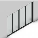 Download CAD files for Essential Sliding Door-4 Panel (80mm)