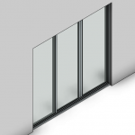 Download CAD files for Signature Sliding Door-3 Panel (100mm)