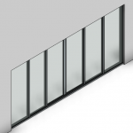 Download CAD files for Signature Sliding Door-6 Panel (100mm)